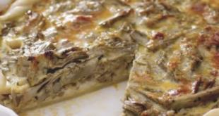 torta salata carciofi