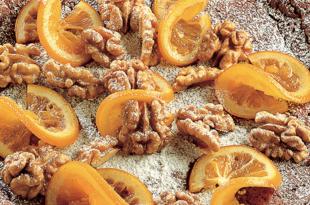 ciambella noci arancia